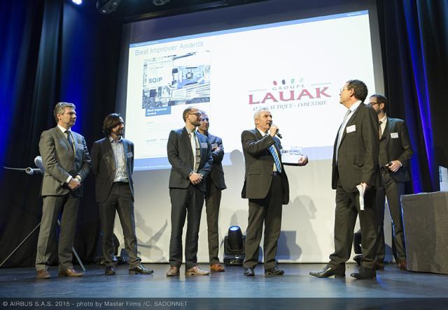 LAUAK DESIGNE BEST IMPROVER SQIP 2015 PAR AIRBUS