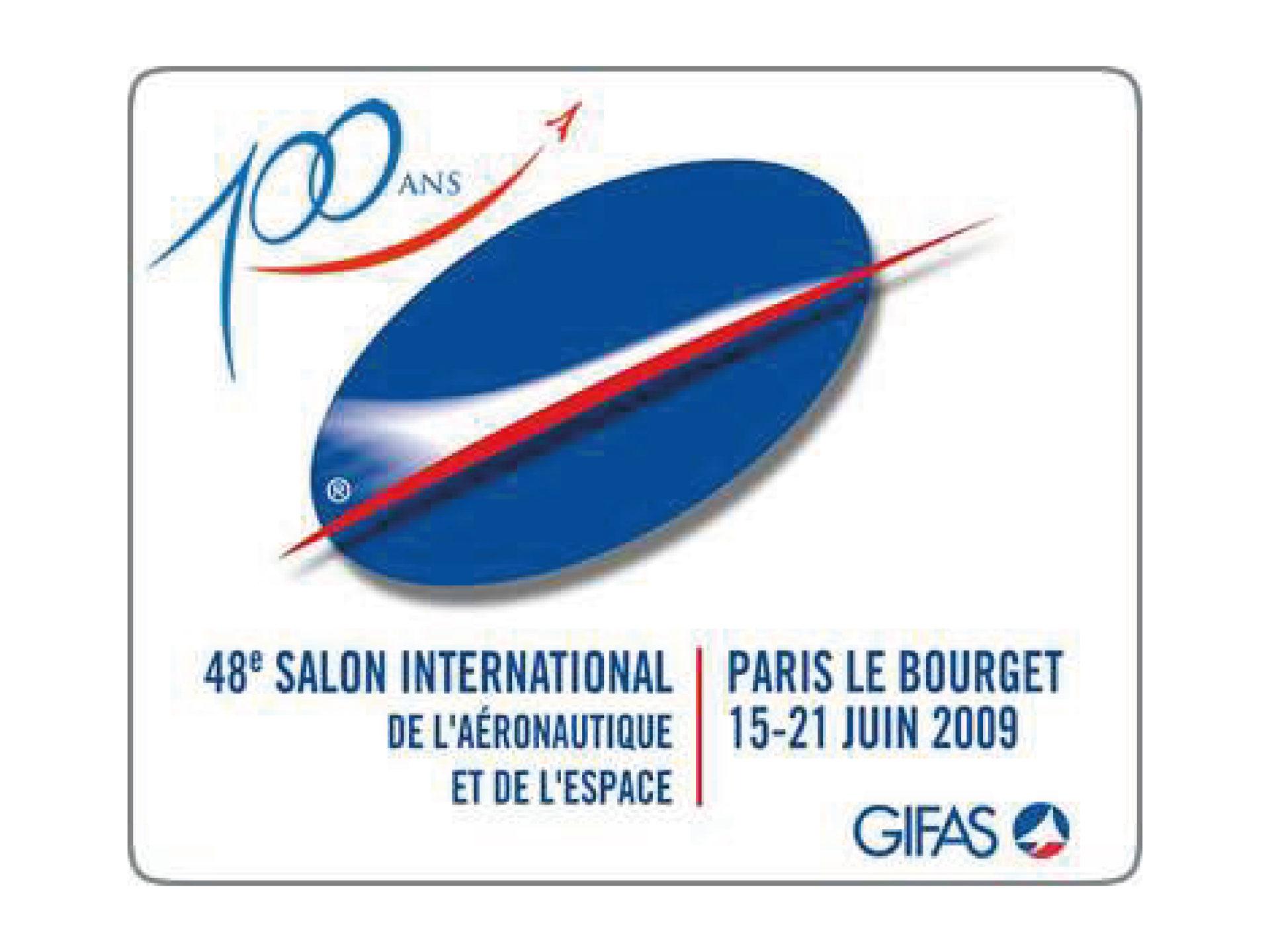Logo SALON DU BOURGET 2009 100 ans