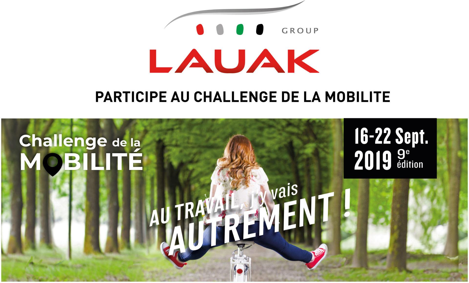 LAUAK PARTICIPE AU CHALLENGE DE LA MOBILITE