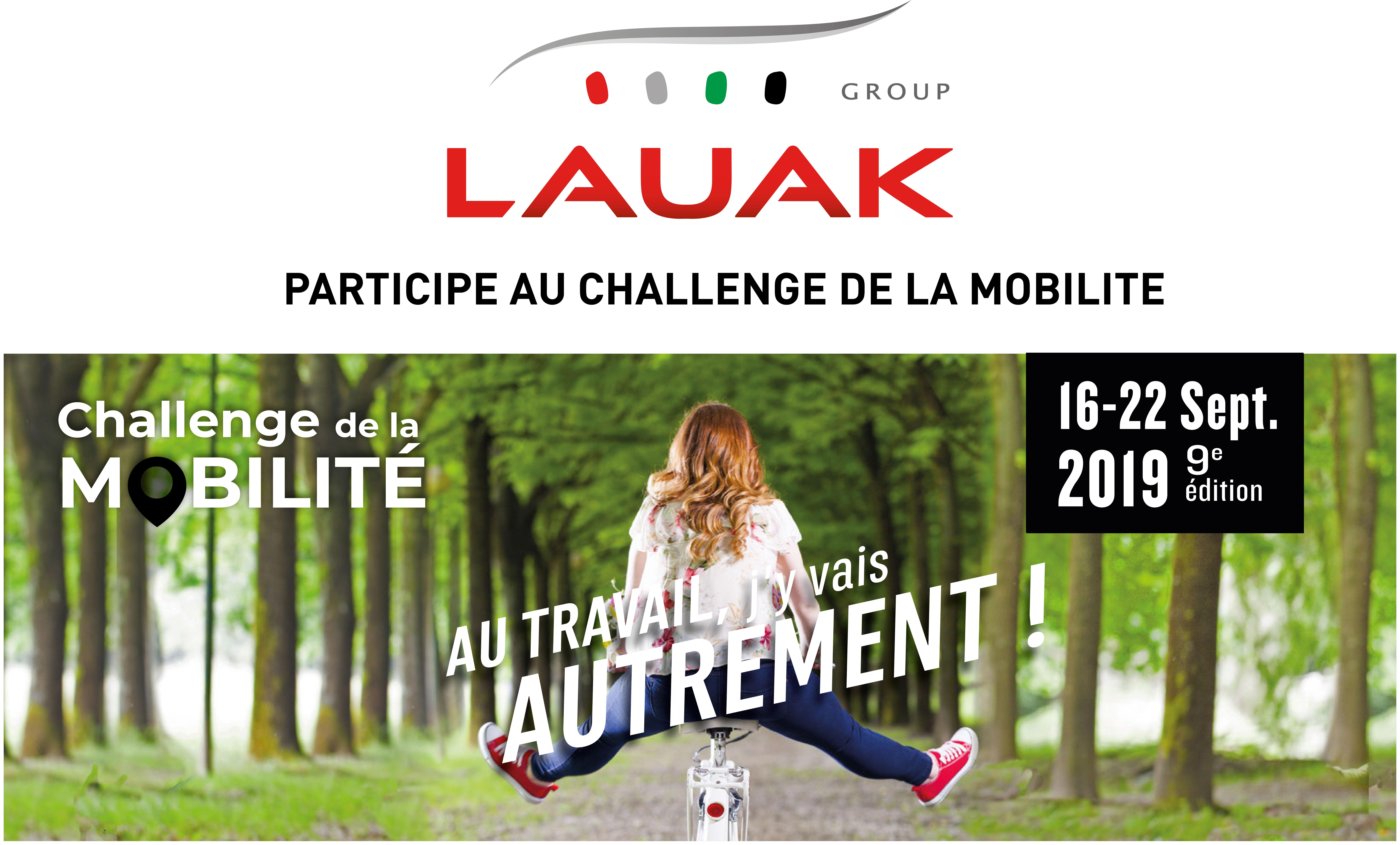 LAUAK participe au challenge de la mobilité