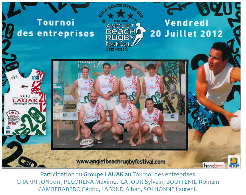 LAUAK ANGLET BEACH RUGBY FESTIVAL 2012