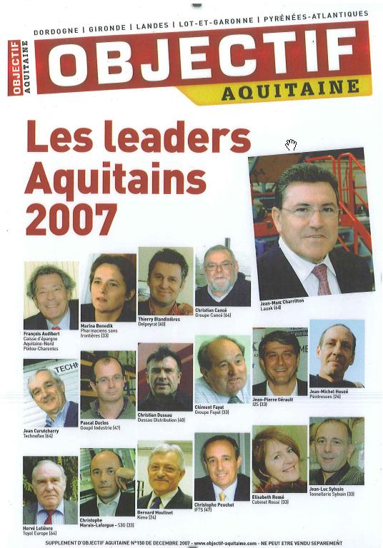 OBJECTIF AQUITAINE - Jean-Marc CHARRITTON parmi les leaders Aquitains 2007