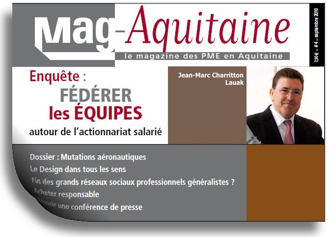 LAUAK DANS LE MAG AQUITAINE SEPTEMBRE 2010