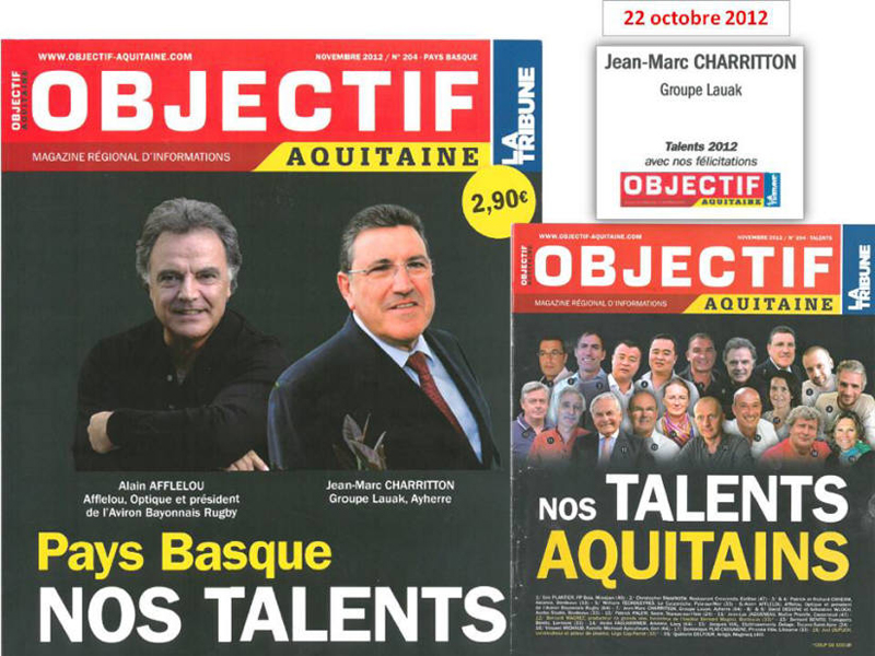 Jean-Marc CHARRITTON, talent 2012 du Magazine Objectif-Aquitaine