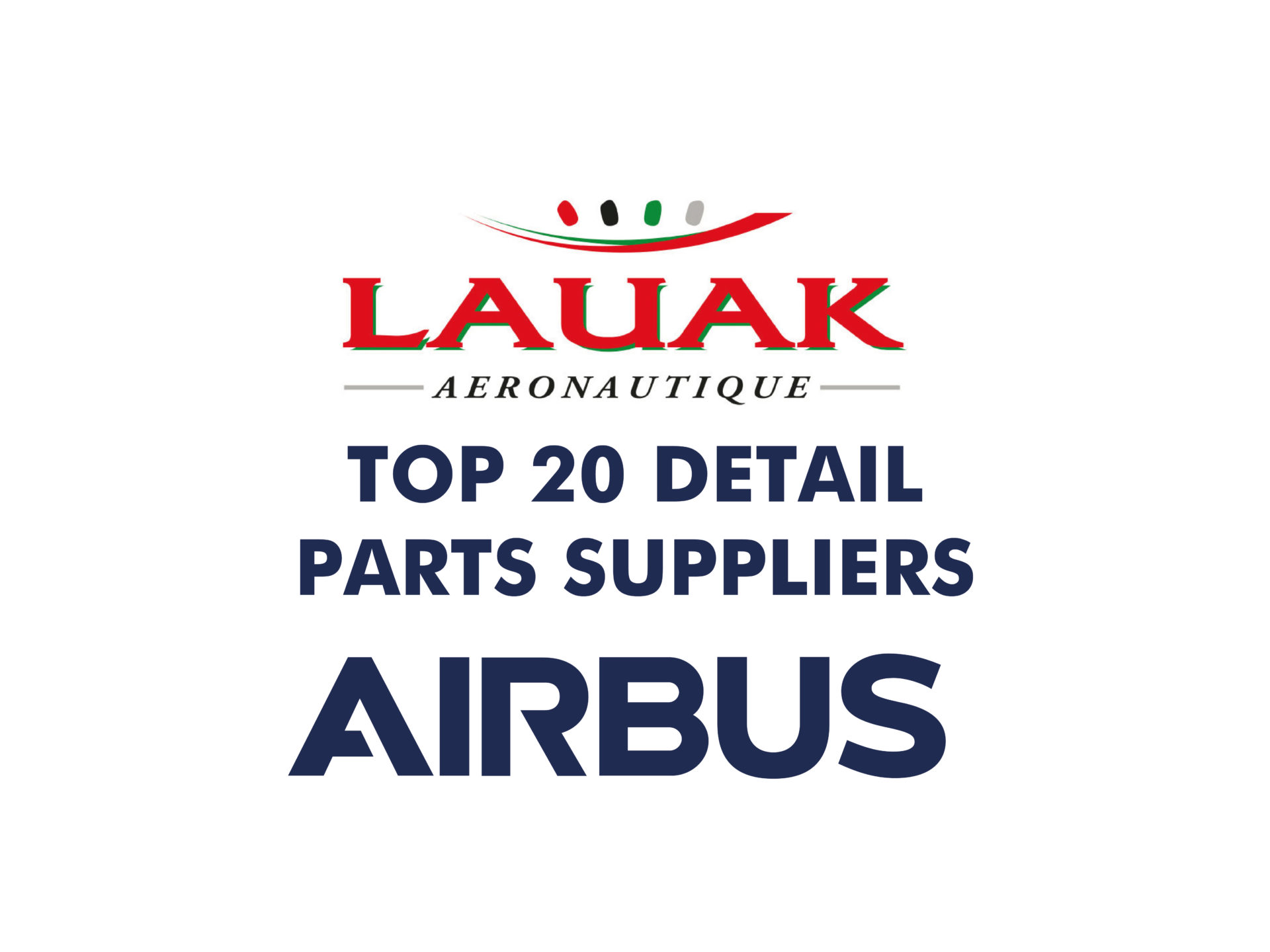 LAUAK dans LE TOP 20 DETAIL PARTS SUPPLIERS D'AIRBUS