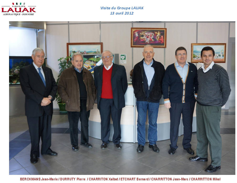Visite du Groupe LAUAK - 13 avril 2012