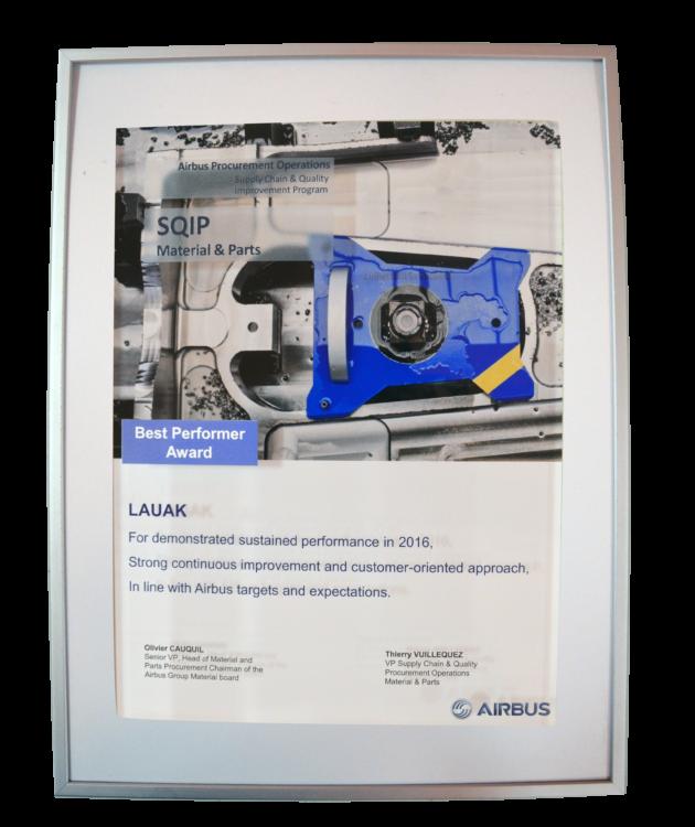 Best performer Airbus Award 2016