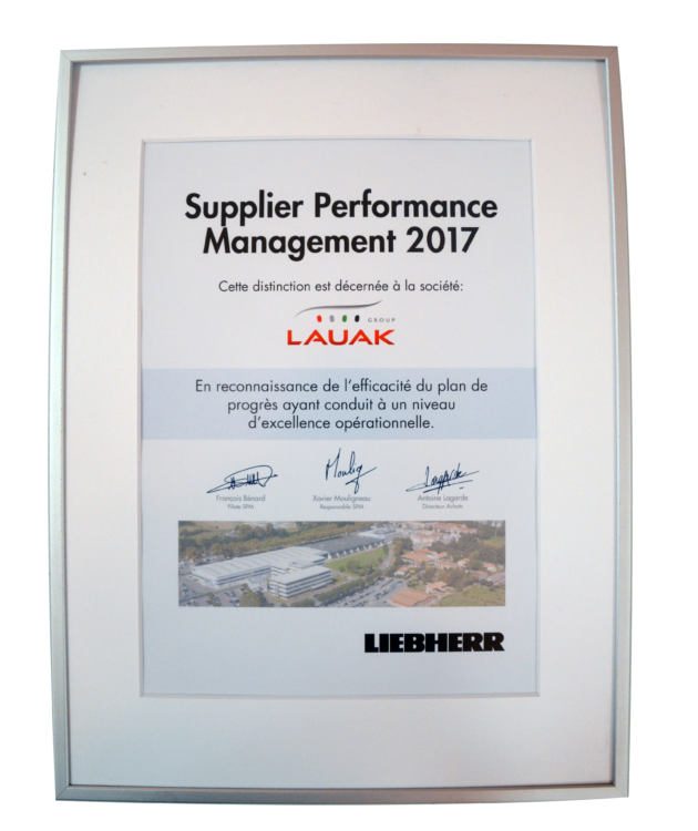 Supplier performance management 2017 LIEBHERR