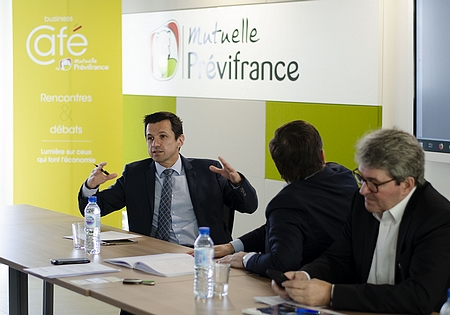Mikel CHARRITTON lors du Business Café de Previfrance